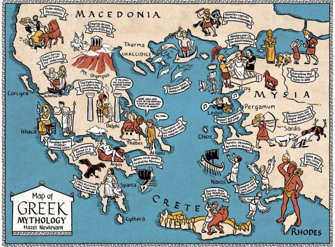 GEOGRAFÍA DEL MITO Mapa-mitologia-griega